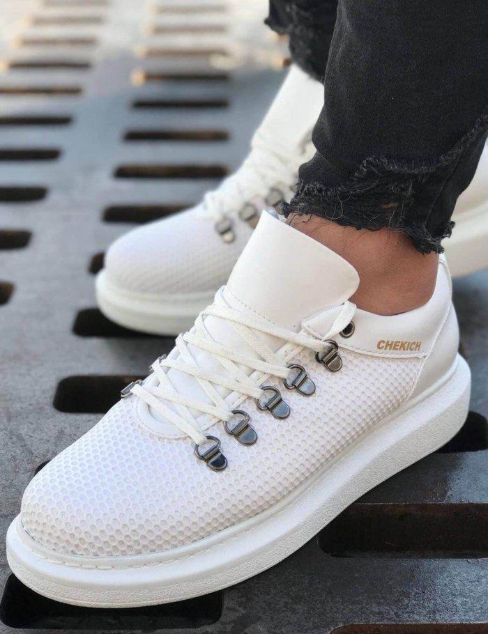 Ανδρικά ολόλευκα sneakers