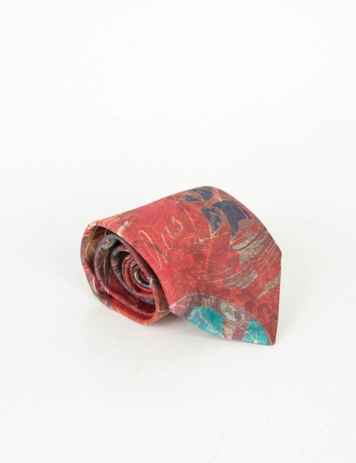 Γραβάτα κόκκινη με σχέδια 18829
