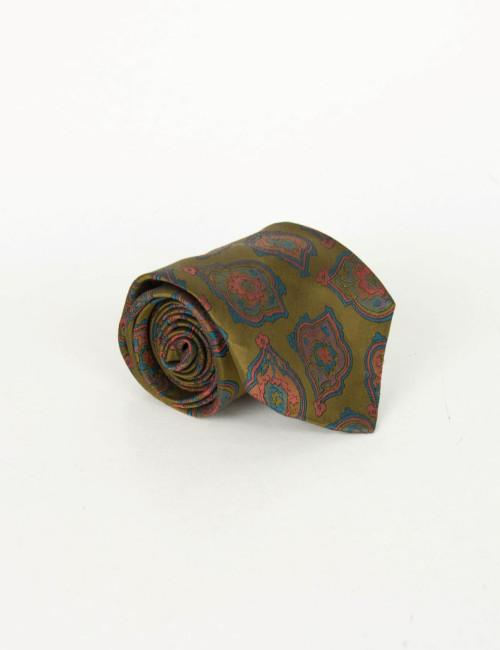 Γραβάτα λαδί με σχέδια 18825