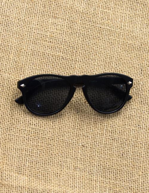 Ανδρικά μαύρα γυαλιά ηλίου ματ Luxury S5037