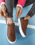 Ανδρικά κάμελ Casual Sneakers με κορδόνια 0602020C