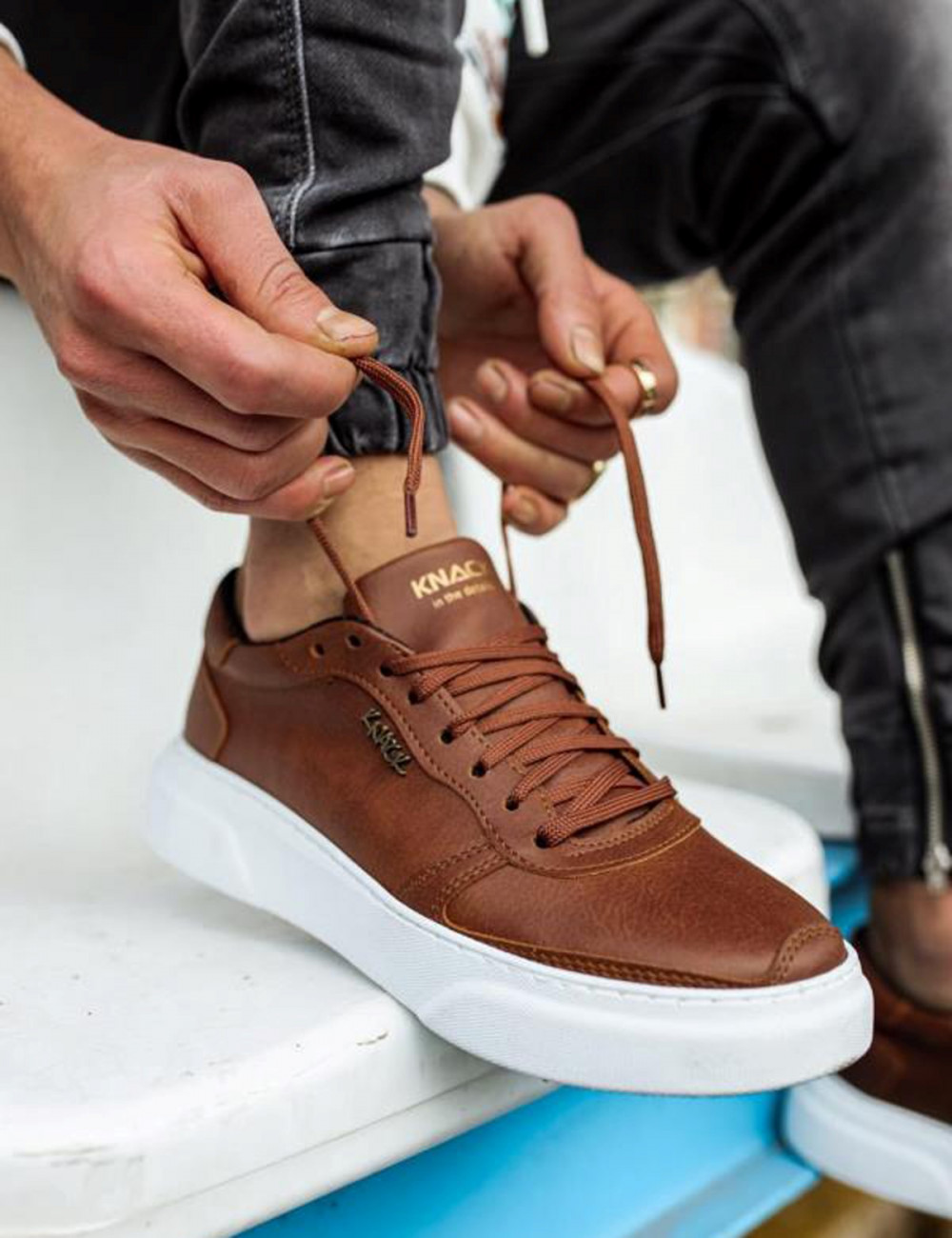 Ανδρικά κάμελ Casual Sneakers δίσολα 2222020