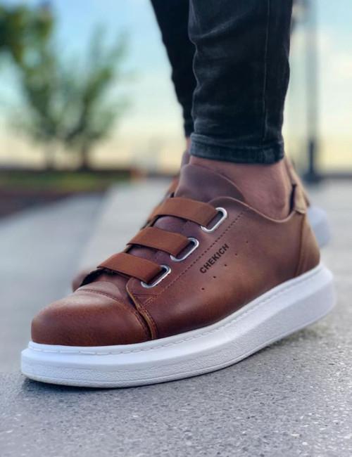 Ανδρικά ταμπά Casual Sneakers δερματίνη CH253T