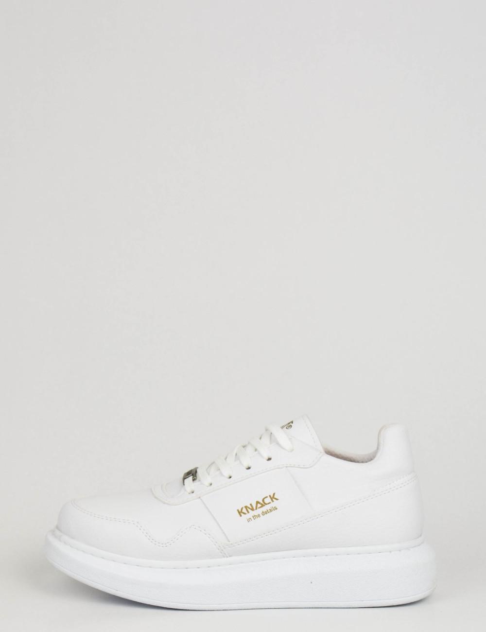 Ανδρικά λευκά Sneakers με κορδόνια 0382020L