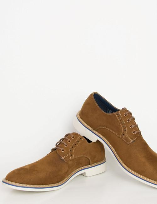 Ανδρικά κάμελ σουέντ δετά παπούτσια Casual EL0634