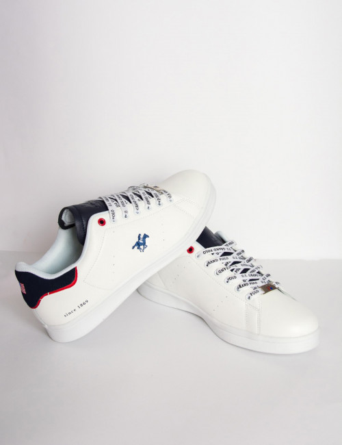 Us Grand Polo αδρικά λευκά casual sneakers USGP0001