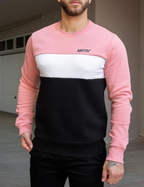 Martini ροζ φούτερ με διχρωμία 10935Z