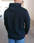Everbest ανδρικό μπλε φούτερ τύπωμα Plus Size 221008