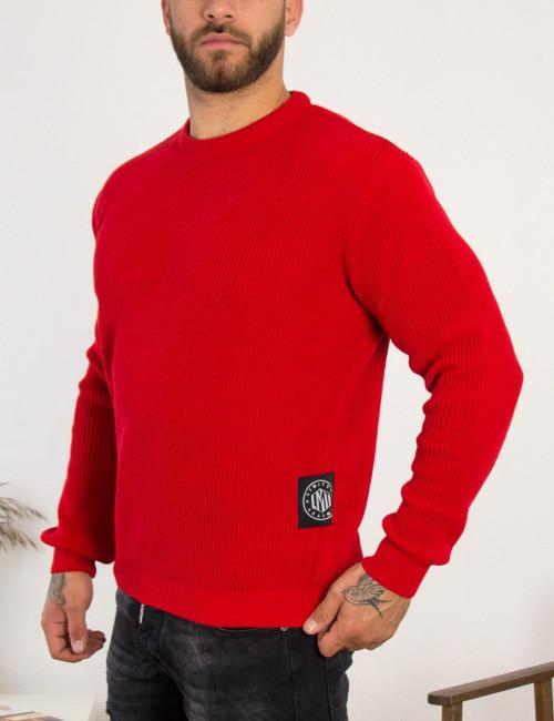 Limit 21 ανδρικό κόκκινο πλεκτό πουλόβερ 203750