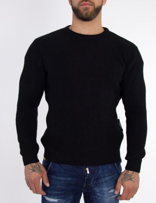 Ανδρικό μαύρο πλεκτό πουλόβερ Limit21 190319
