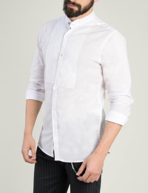 Ανδρική λευκή πουκαμίσα μονόχρωμη 52655