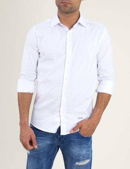 Ανδρικό λευκό μονόχρωμο πουκάμισο Ben Tailor 185210