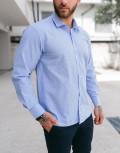 Ανδρικό μπλε πτι καρό πουκάμισο Plus Size 313029
