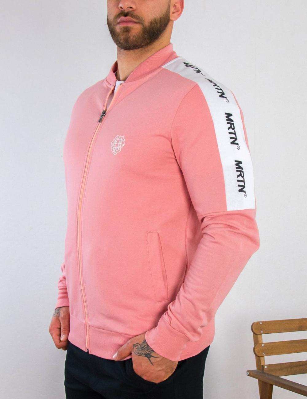 Ανδρική ροζ ζακέτα με σχέδιο Martini 10909R