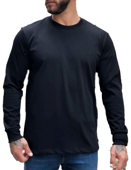 Ανδρική μαύρο βαμβακερή μπλούζα Plus size Everbest 211026G