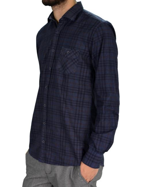 Μπλέ καρό πουκάμισο 0171301