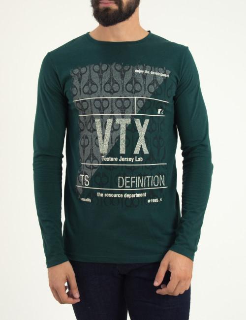 Ανδρική μακρυμάνικη μπλούζα Vortex πράσινη 03111W