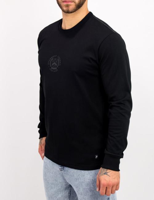 Everbest ανδρική μαύρη μακρυμάνικη μπλούζα τύπωμα Plus Size 221027