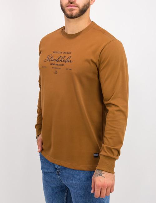 Everbest ανδρική ταμπά μακρυμάνικη μπλούζα τύπωμα Plus Size 221029