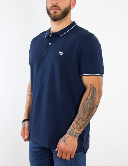 Lee ανδρικό μπλε Polo μπλουζάκι Pique L61ARL35