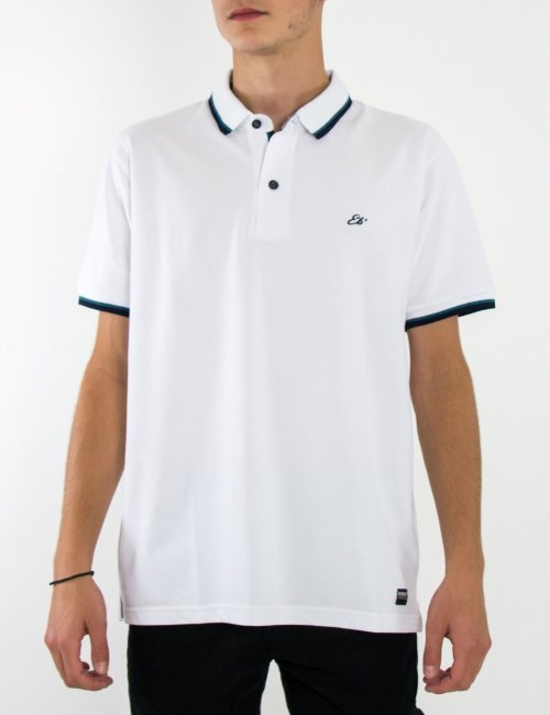 Ανδρική λευκή Polo κοντομάνικη μπλούζα μονόχρωμη Plus Size 20841B