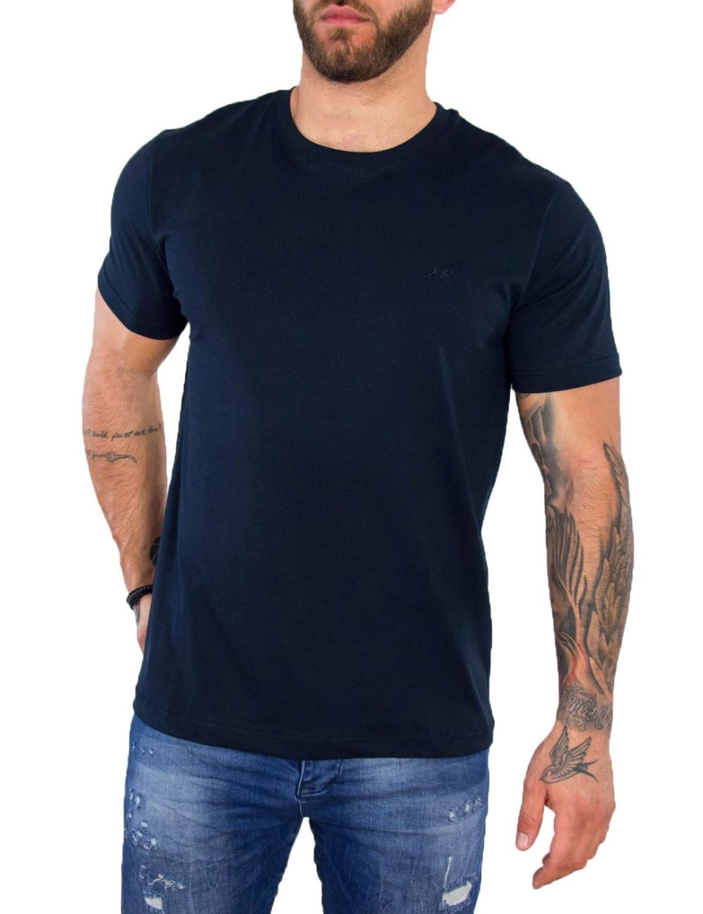 Everbest ανδρικό μπλε Plus Size Tshirt 212800F