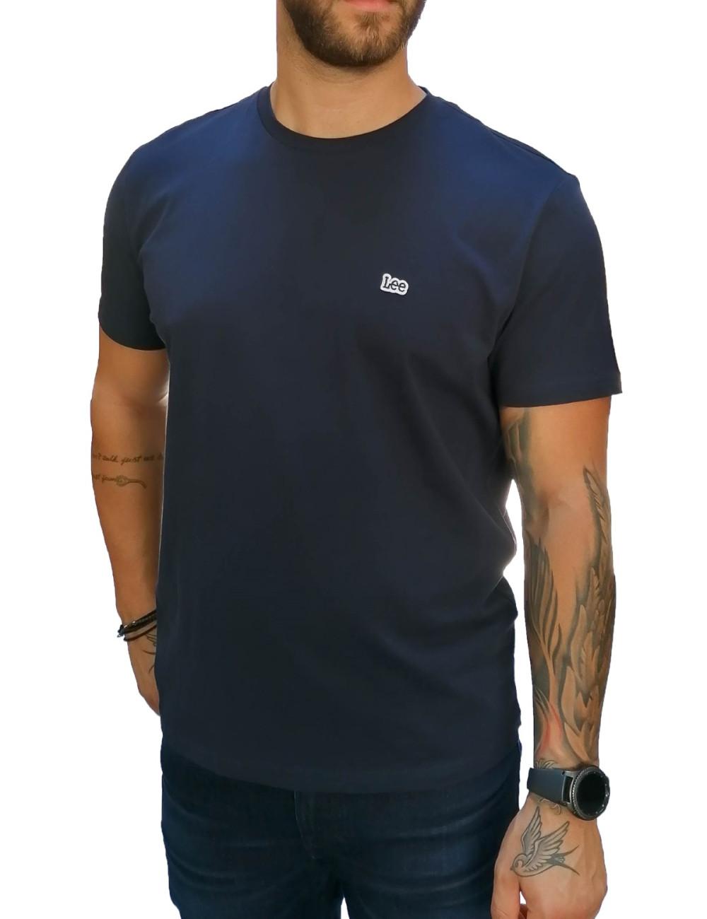Lee SS Pach Logo Tee ανδρικό μπλε μπλουζάκι L60UFQ35