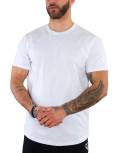 Everbest ανδρικό λευκό βαμβακερό T-shirt 212905