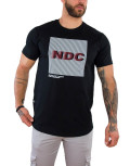 Everbest ανδρικό μαύρο T-shirt με τύπωμα 212913C