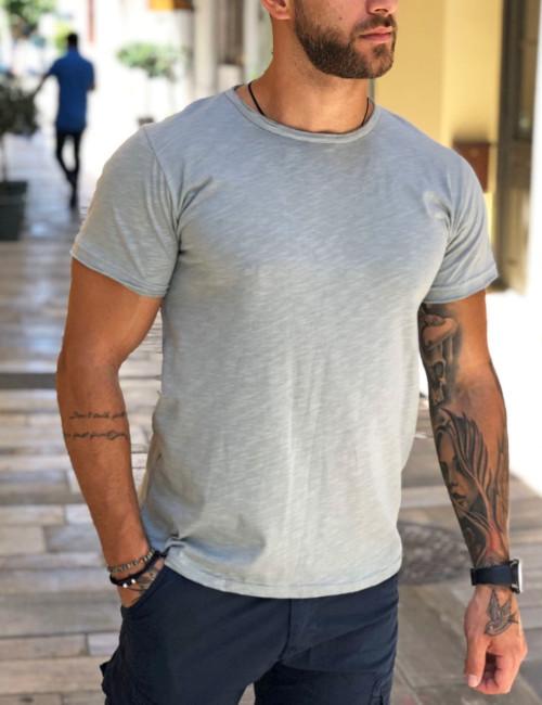 Ανδρικό λαδί t-shirt βαμβακερό Ελληνικής κατασκευής 19002V