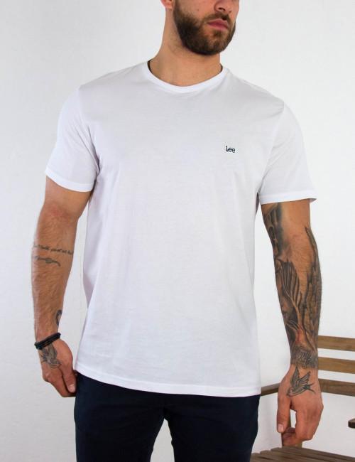 Lee ανδρικό μπλουζάκι λευκό SS Pach Logo Tee L60UFQ12