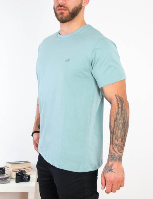 Everbest ανδρικό γαλάζιο Plus Size Tshirt 212800G