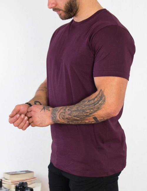 Everbest ανδρικό μπορντό Plus Size Tshirt 212800J