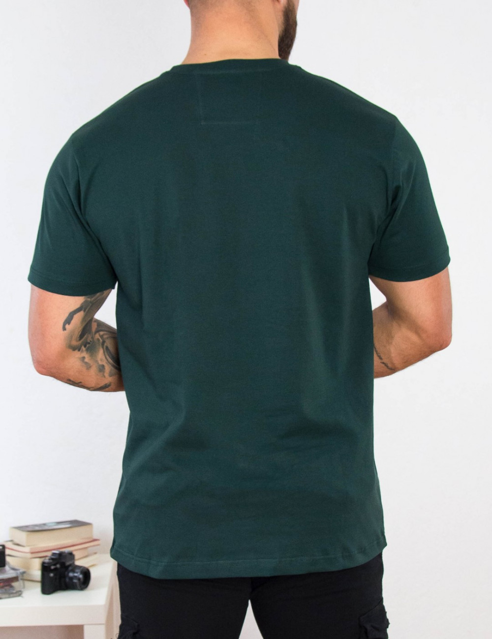 Everbest ανδρικό κυπαρισσί Plus Size Tshirt 212800