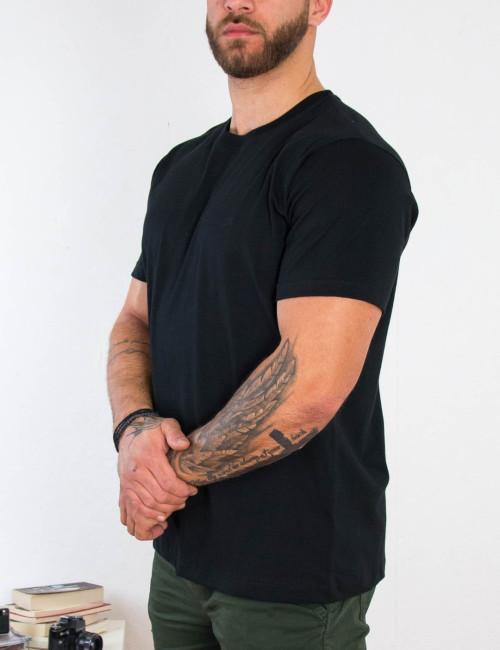 Everbest ανδρικό μαύρο Plus Size Tshirt 212800X
