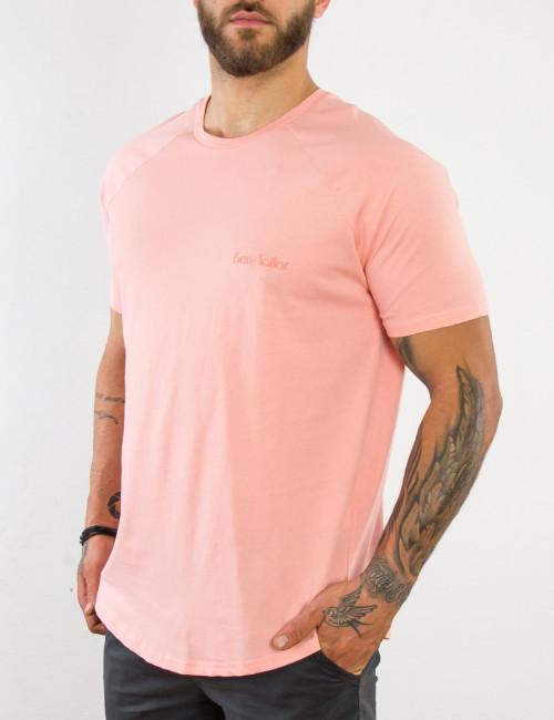 Ανδρικό ροζ βαμβακερό Tshirt τύπωμα Ben Tailor 514050D