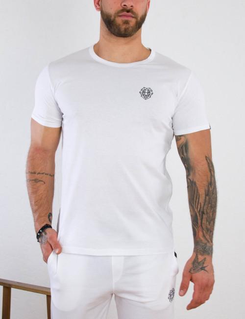 Ανδρικό λευκό βαμβακερό T-shirt με σχέδιο Martini 70677L