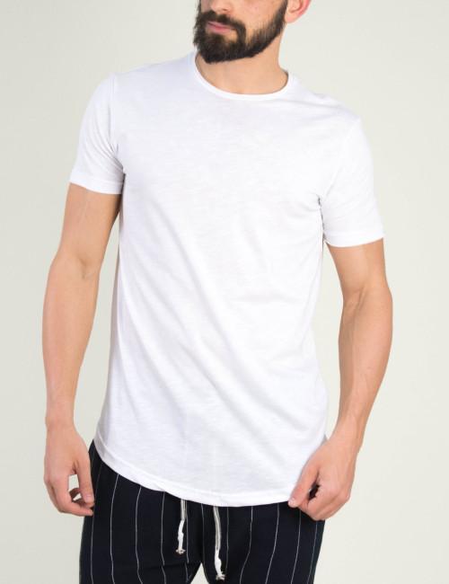 Ανδρικό λευκό t-shirt Brothers μονόχρωμο 19002F