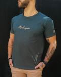 Everbest ανδρικό χακί Plus Size Tshirt με τύπωμα 212811T