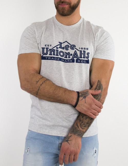 Lee Heritage Tee ανδικό μπλουζάκι γκρι L63QFQ03