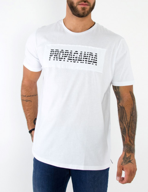 Ben Tailor λευκό ανδρικό Tshirt με τύπωμα 5056
