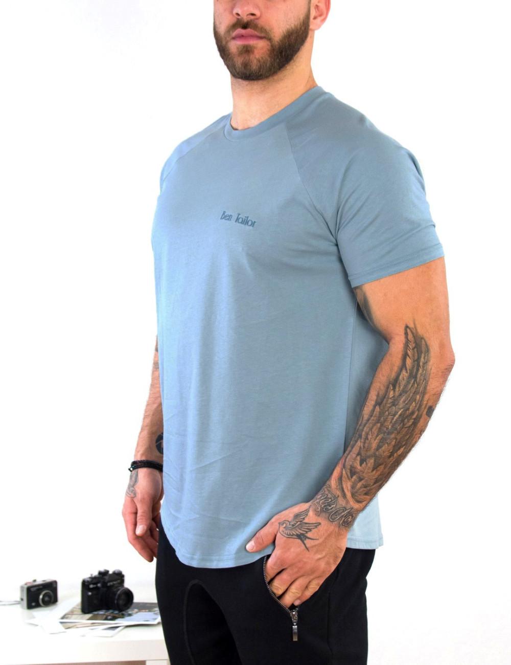Ανδρικό σιέλ βαμβακερό Tshirt τύπωμα Ben Tailor 514050