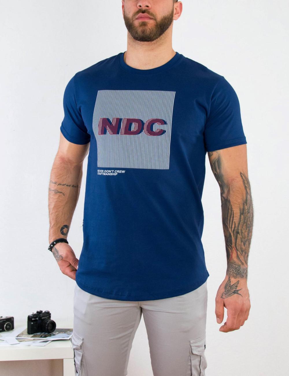 Everbest ανδρικό μπλε T-shirt με τύπωμα 212913