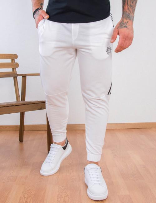 Ανδρική λευκή φόρμα με ρίγα Martini 8502Q