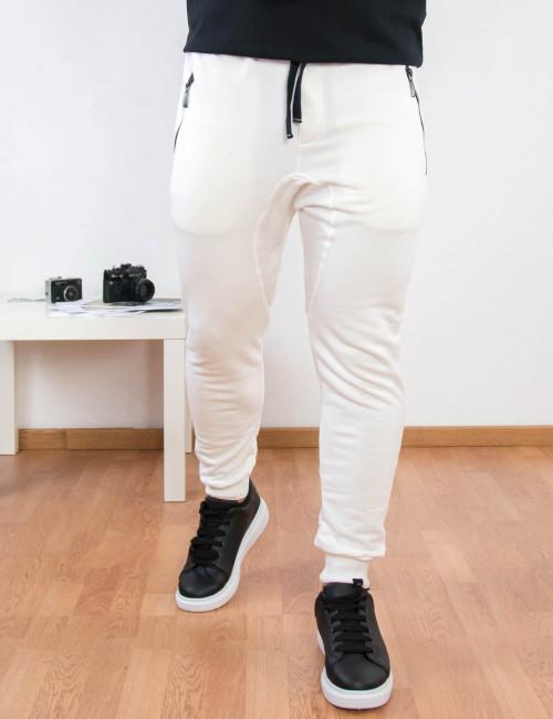 Ανδρική λευκή φόρμα με λάστιχο Ben Tailor Alpha 5145