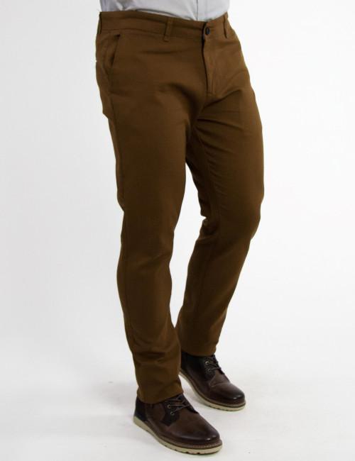 Ανδρικό καφέ υφασμάτινο Chinos παντελόνι Ben Tailor 2050R