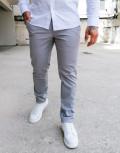 Ανδρικό γκρι υφασμάτινο Chinos παντελόνι Trial 21 Logan