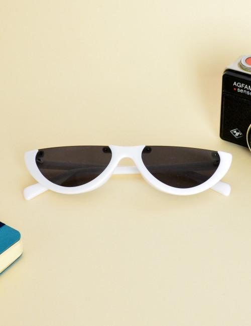 Γυναικεία γυαλιά ηλίου cat eye άσπρα Premium S2642