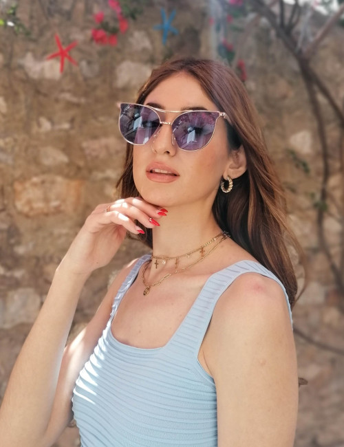Γυναικεία Γυαλιά Ηλίου Μπλε S7076