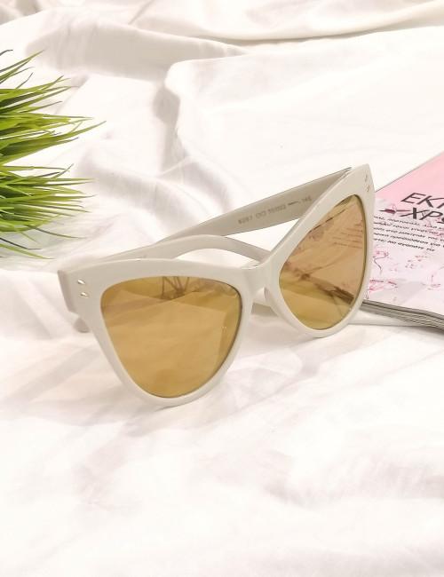 Γυναικεία γυαλιά ηλίου πεταλούδα χρυσά Handmade S6207C